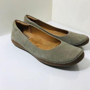 CLARKS AUTUMN SUN Leather Ballet Flats Shoes